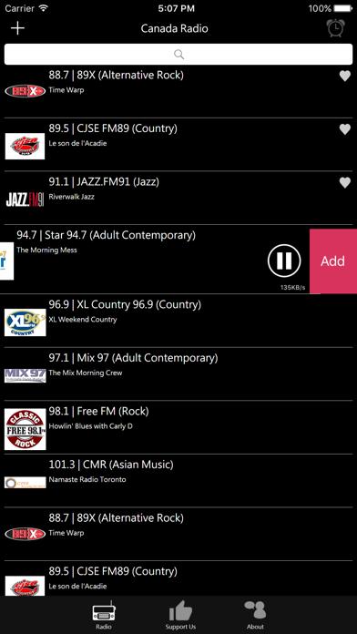 Canadian Radio screenshot four
