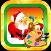 圣诞老人- 圣诞-画画-铁皮人免费儿童游戏·画画板游戏·幼儿涂鸦·宝宝填色·早教 ,儿童学画画免费