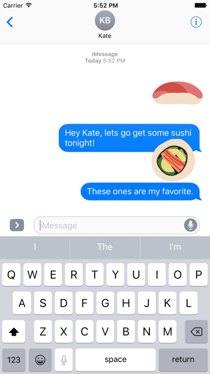 Sushi Sticker Pack for iMessage screenshot-3
