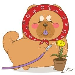 Chowchow dog Sticker