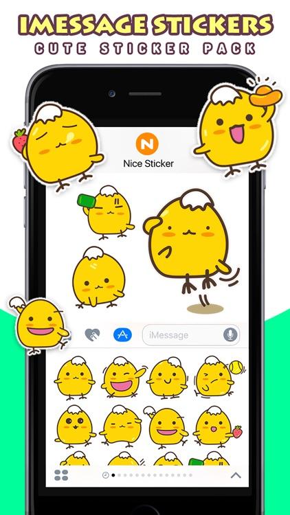 Kara Chicken Pro - Cute Stickers by NICE Sticker