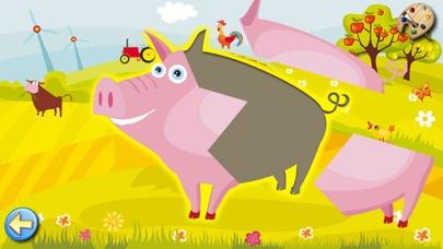 農場 - ぬりえ - パズル - キッズと子供のためのゲームスクリーンショット1