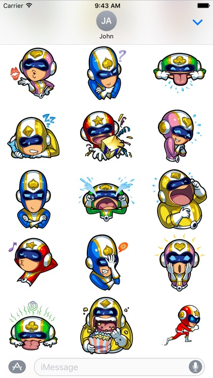 Run Run Super V Stickers