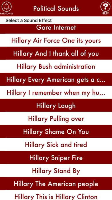 POLITICAL SOUNDS: Trump, Clinton, Obama, Bush screenshot one