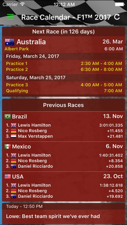 Race Calendar 2017 screenshot-0