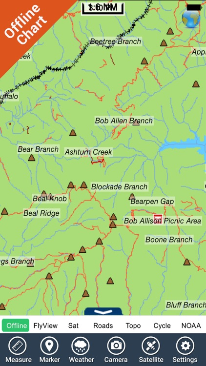 Nantahala National Forest gps outdoor map