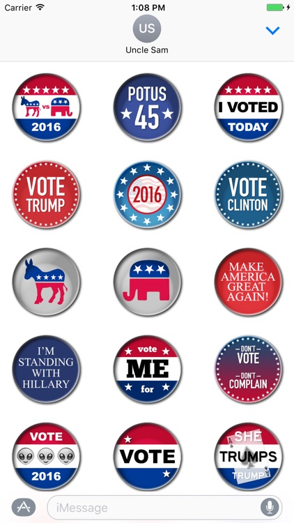 Campaign Election Buttons Vote 2016