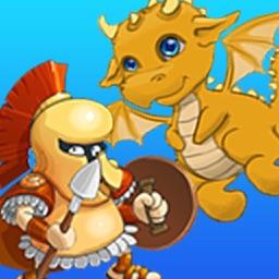 hero warrior vs dragon monsters adventure