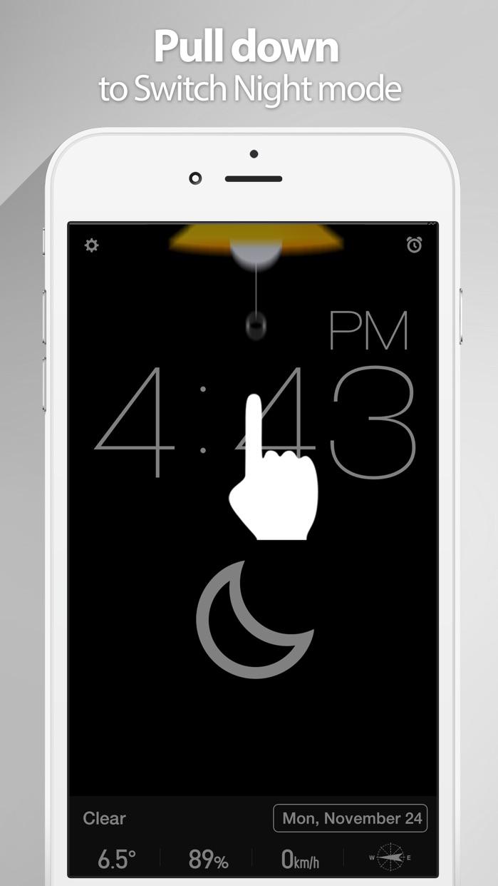Red Clock - The Minimal Alarm Clock Screenshot