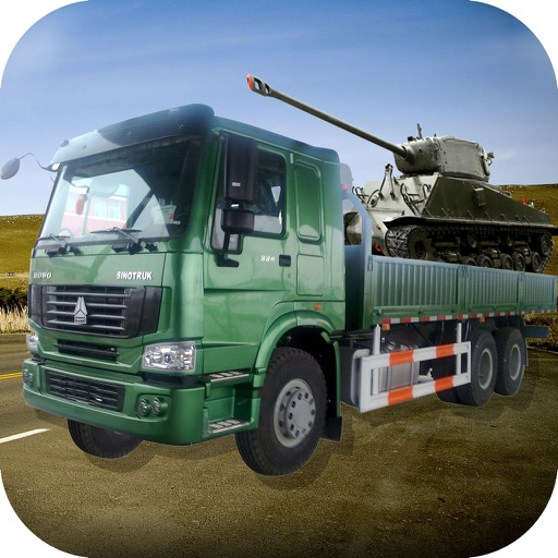 Army Delivery Truck Cargo 3d