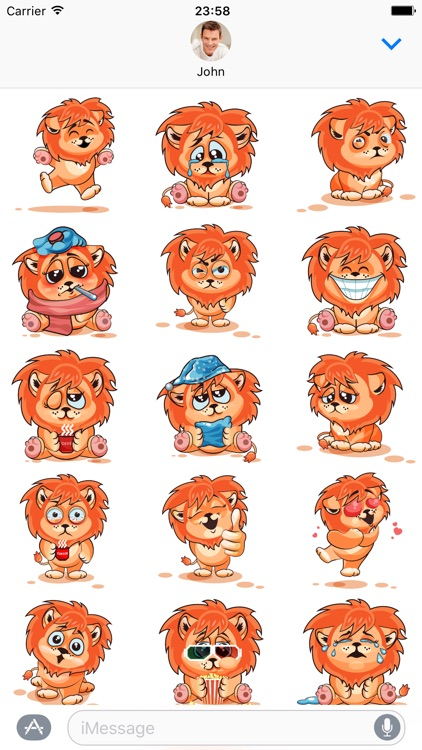 Lion - Stickers for iMessage