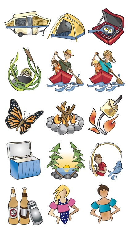 Camping & Nature Sticker Set