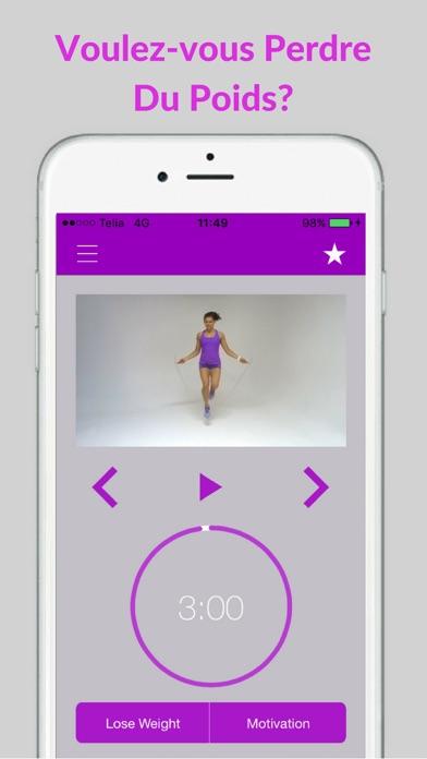 Screenshot #2 pour Corde à Sauter Exercices et Entraînement Routine