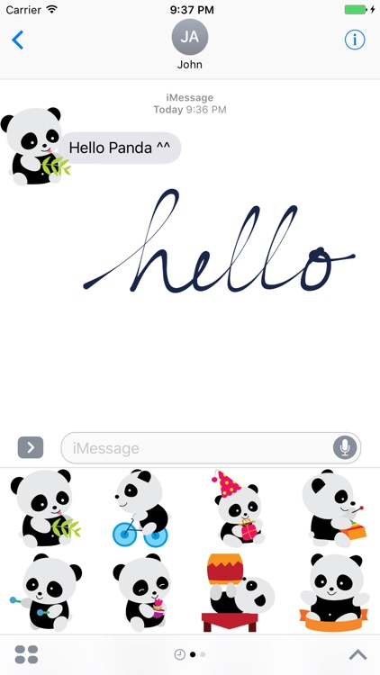 Cute Panda Sticker for iMessage #1