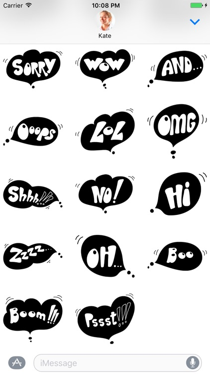Black Spot - Stickers for iMessage screenshot-4