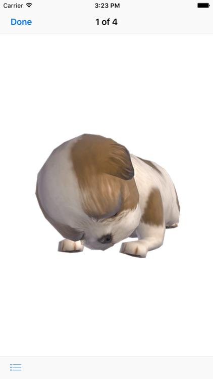 Shih Tzu - Animated Puppy Stickers
