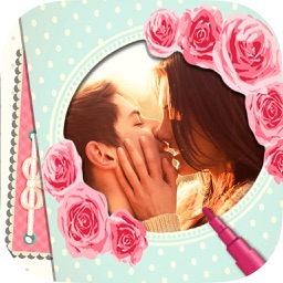 Romantic love photo frames - Photomontage