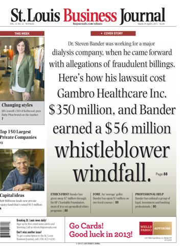 Screenshot of St. Louis Business Journal
