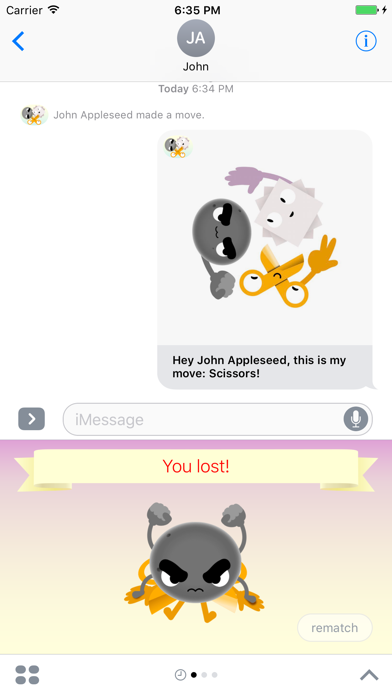 Rock-Paper-Scissors: Game for iMessage screenshot four