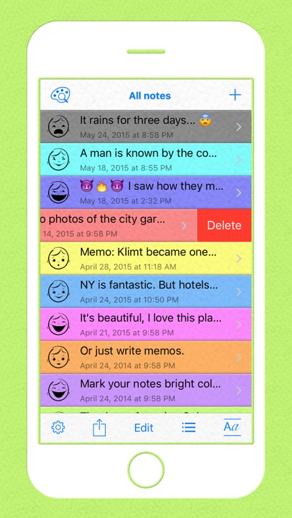 Colored Note