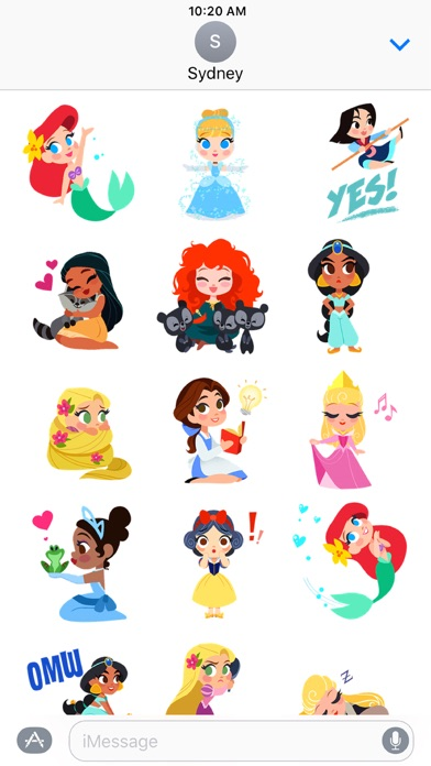 Disney Stickers: Princess screenshot two