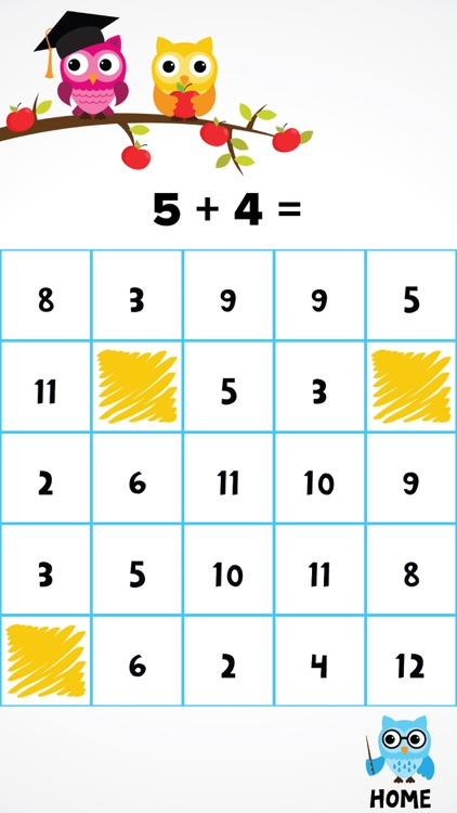 Hooty Hoo: Bingo Math screenshot-1