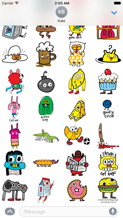 Burgerworld stickers
