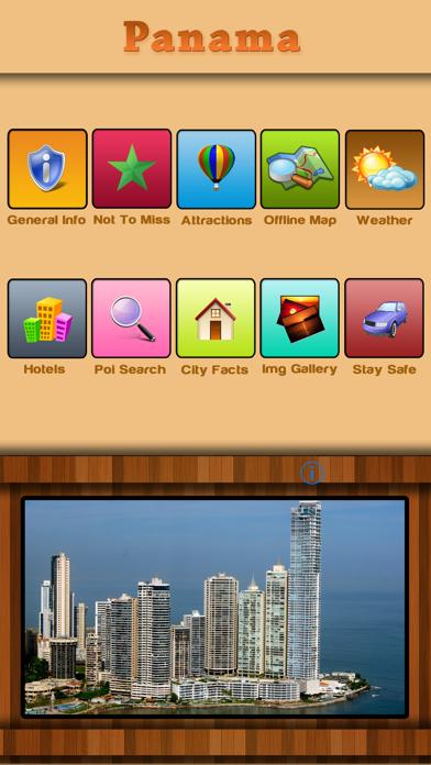 Panama Offline Map Travel Guide screenshot one