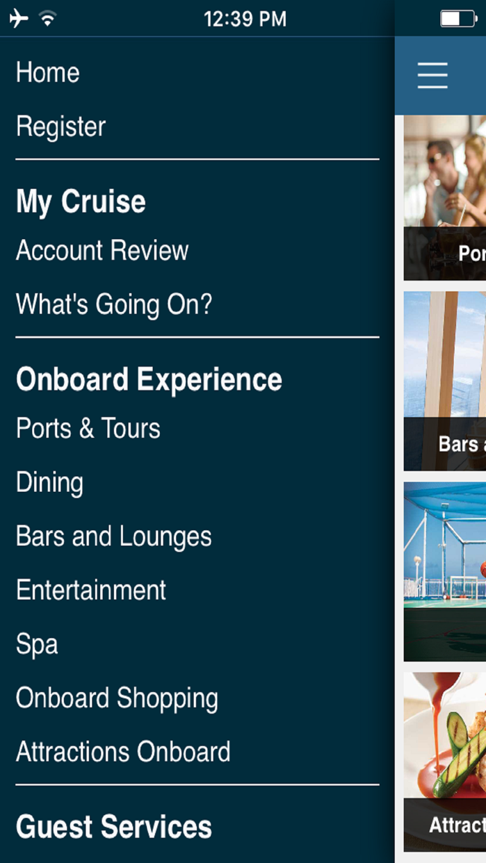 Norwegian iConcierge Screenshot
