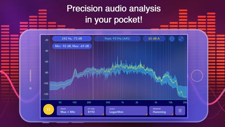 Audio spectrum analyzer and dB (decibel) meter screenshot-0