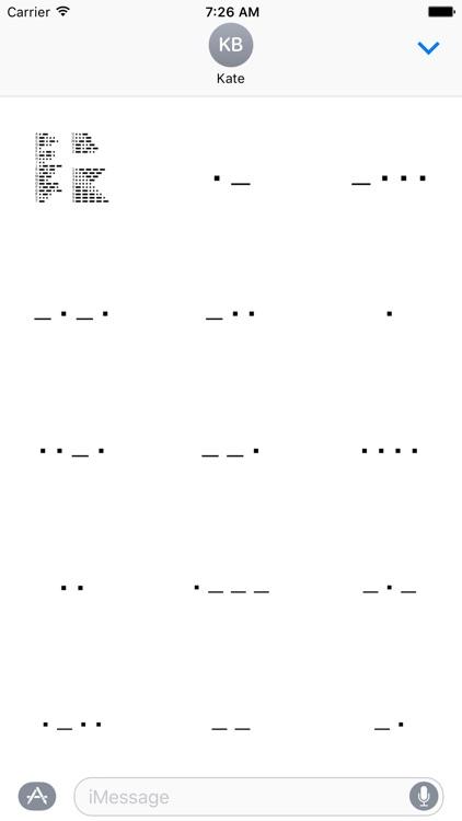 Morse Code Stickers