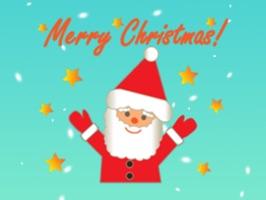 Pleasant Santa Claus Sticker