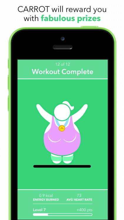 CARROT Fit - 7 Minute Workout & Weight Tracker screenshot-3