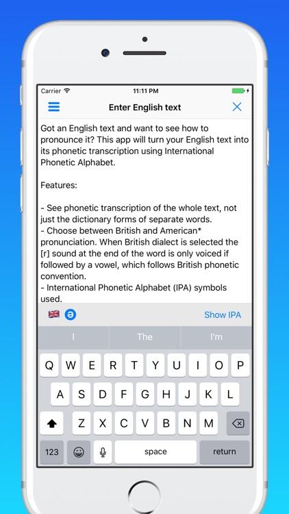 toPhonetics English Phonetic Transcription