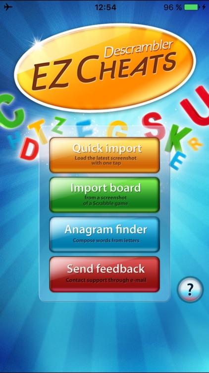 EZ Descrambler Cheat for Scrabble,Words w. Friends