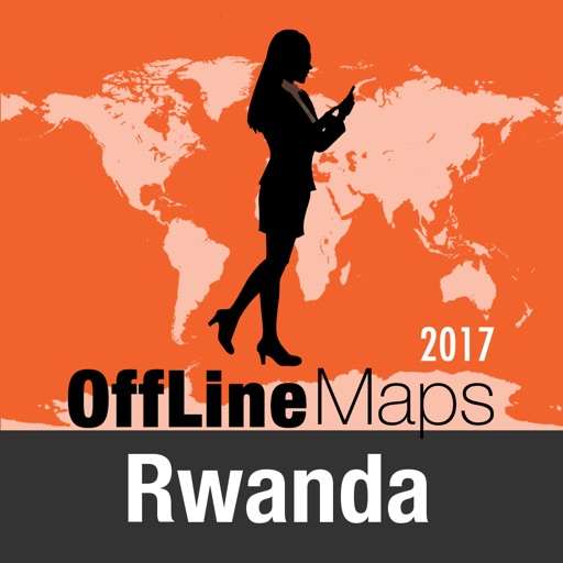 Ruanda mapa offline y guía de viaje