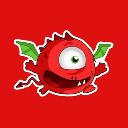 Red Dragon Stickers
