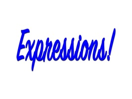 Expressions Dark Blue Stickers for iMessage