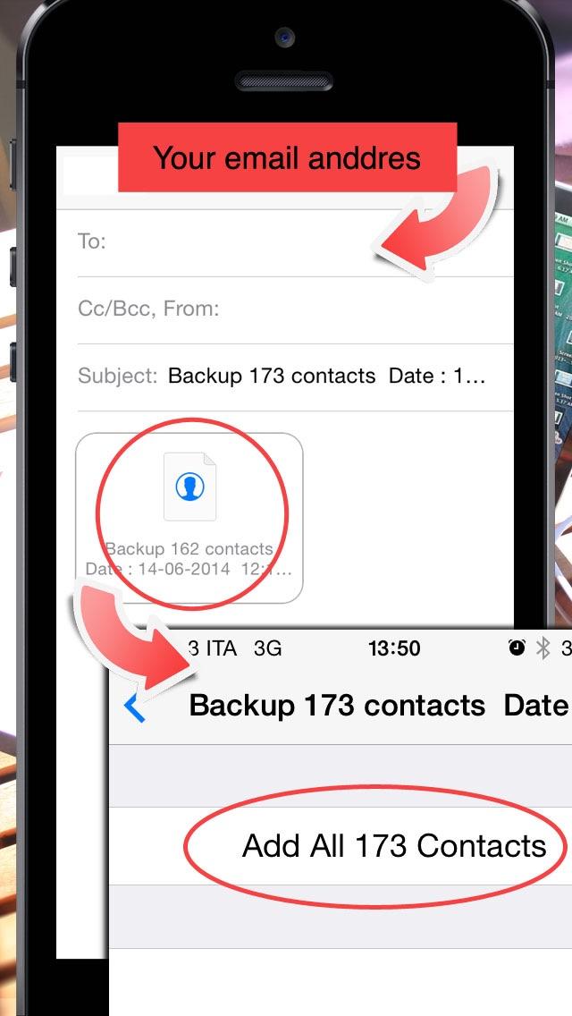 Backup Contacts ( ワンタ... screenshot1