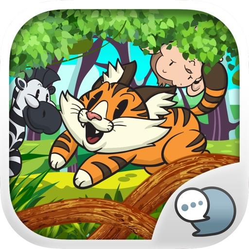 Emoji Sticker Keyboard in The Zoo Themes ChatStick