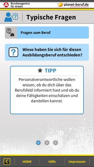 Bewerbung Vorstellungsgespräch Screenshot