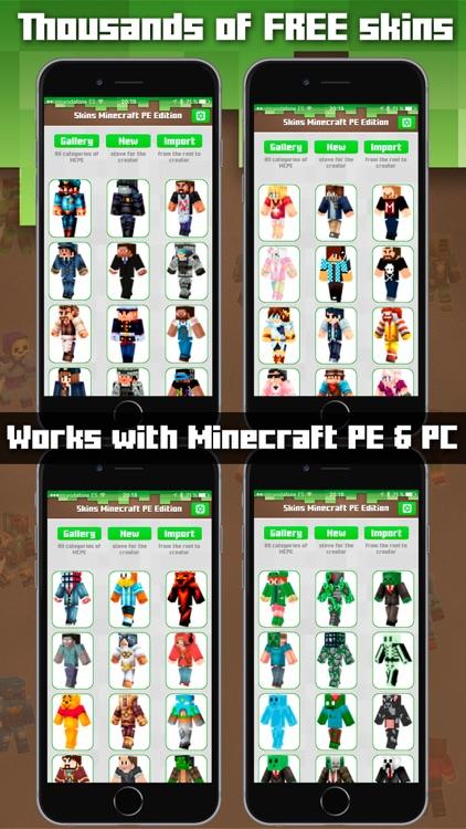 Skins Minecraft PE & PC Edition - Girls Boys Skins
