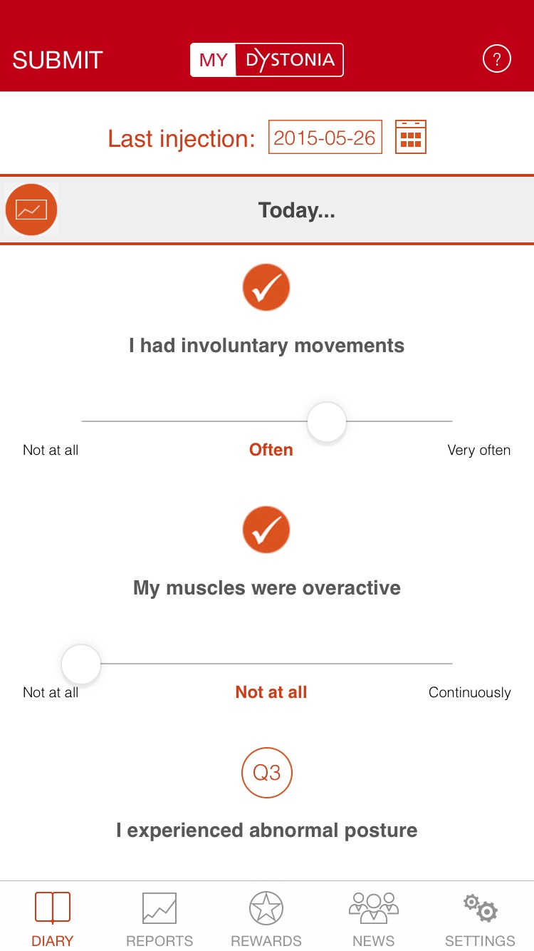 MyDystonia Screenshot