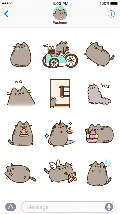 Pusheen Animated Stickers