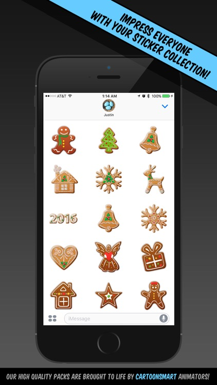 Christmas Cookie Stickers