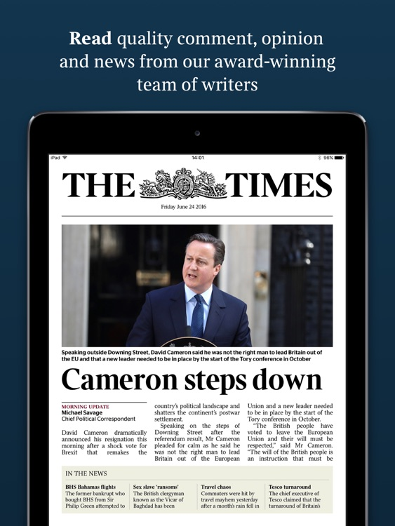 The Times & The Sunday Times: World News & Sports