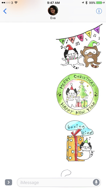 Doodle Funny Stickers Xmas