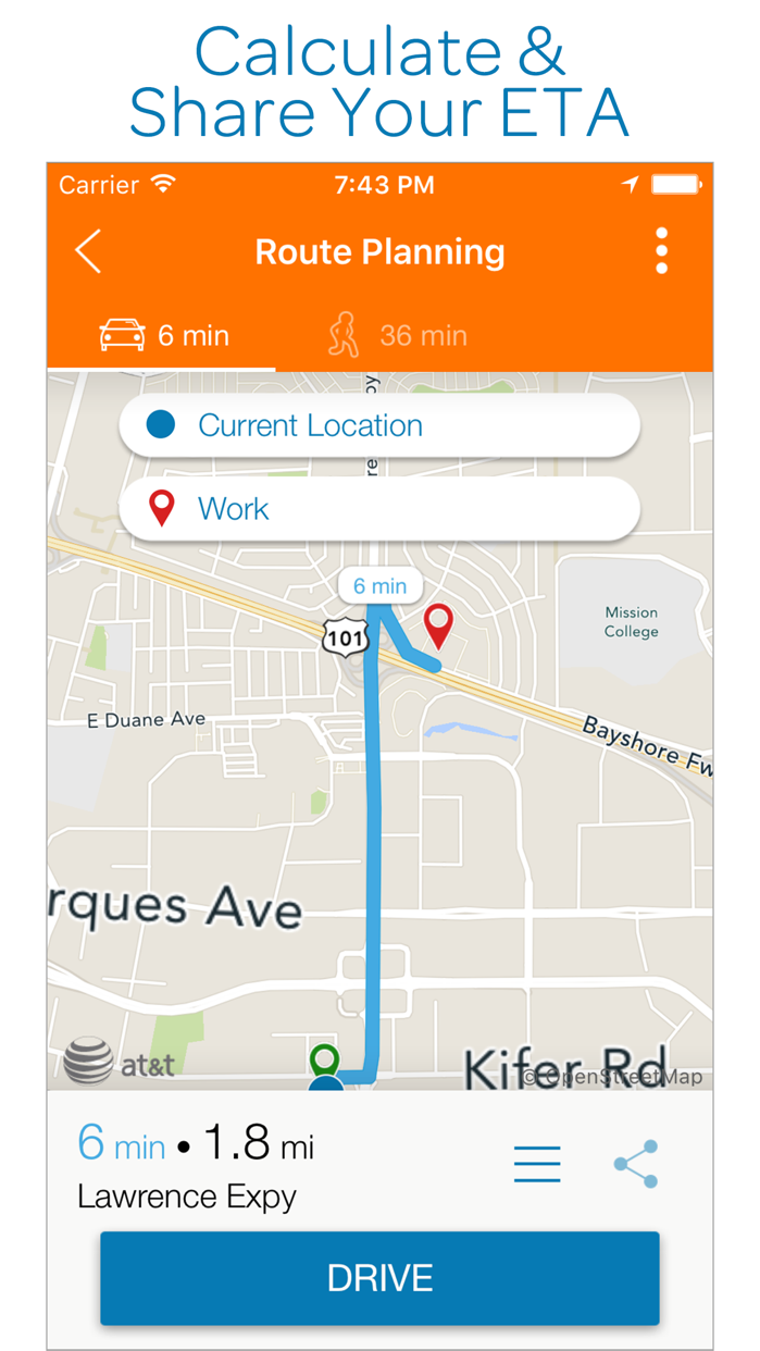 AT&T Navigator: GPS Maps, Navigation & Traffic Screenshot