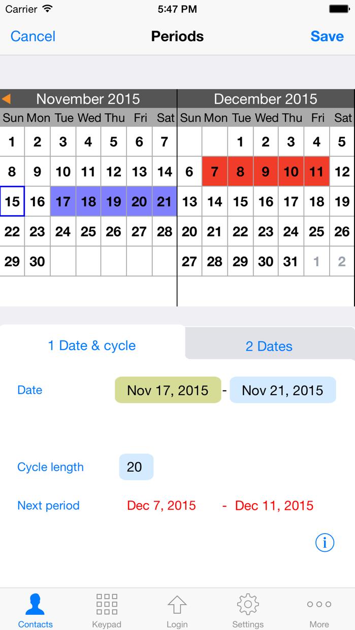 iPad 版 ContactsPro Screenshot