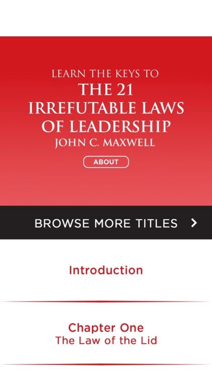 The 21 Irrefutable Laws Of Leadership Meditation By Premium Access